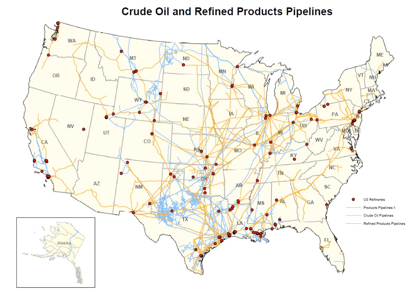 Can Pipelines Drive US Energy Independence Canary LLC - Pipelines in the us map