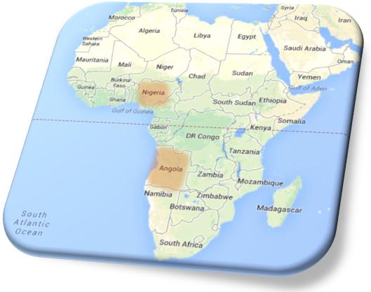 AfricaMap-NigeriaAngolaHighlight