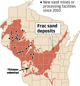 Wisconsin Geological and Natural History Survey data plots the new mines opened in the last 4 years.