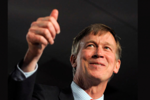 Colorador Gov. John Hickenlooper gives frac fluid a thumbs-up.