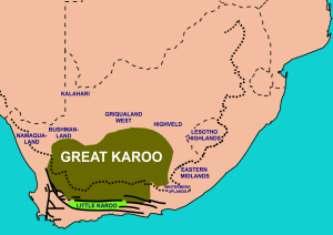 The Karoo region encompasses a large swath of South Africa.