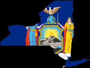 New York Flag-map